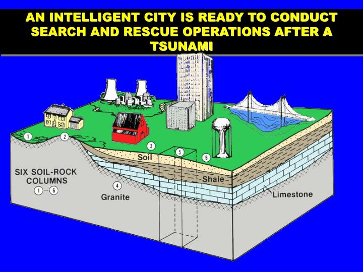 AN INTELLIGENT CITY IS READY TO CONDUCT SEARCH AND RESCUE OPERATIONS AFTER A TSUNAMI