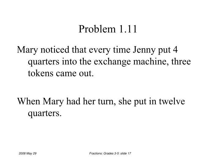 Problem 1.11