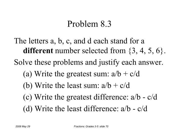 Problem 8.3