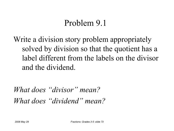 Problem 9.1