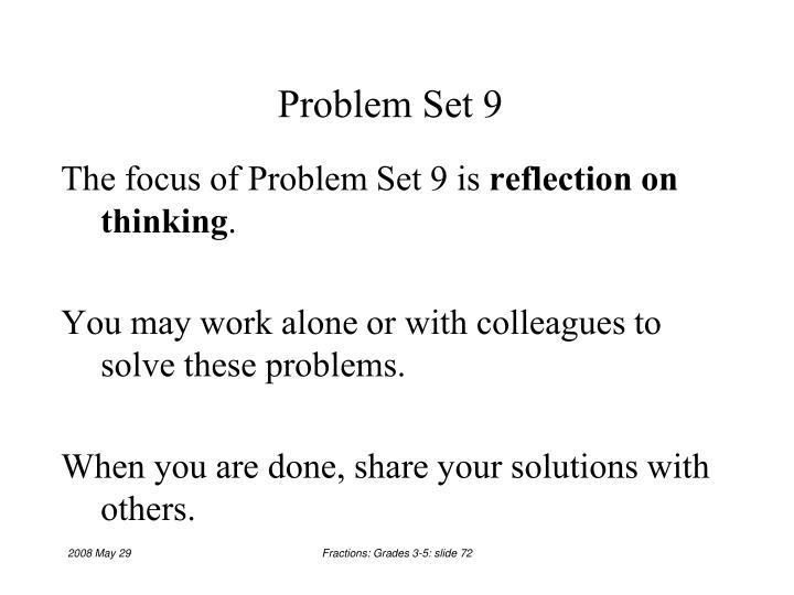 Problem Set 9