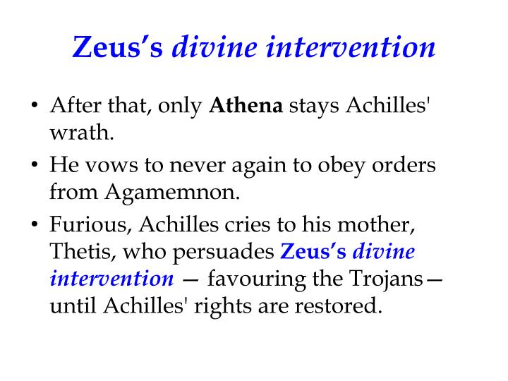 Role of Greek Gods In the Illiad