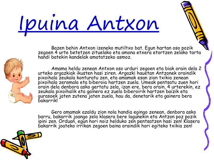 Ipuina Antxon