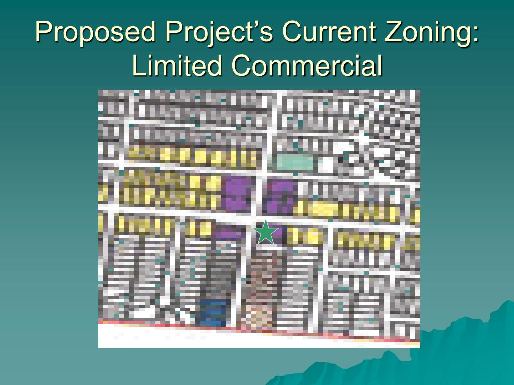 Proposed Project's Current Zoning: