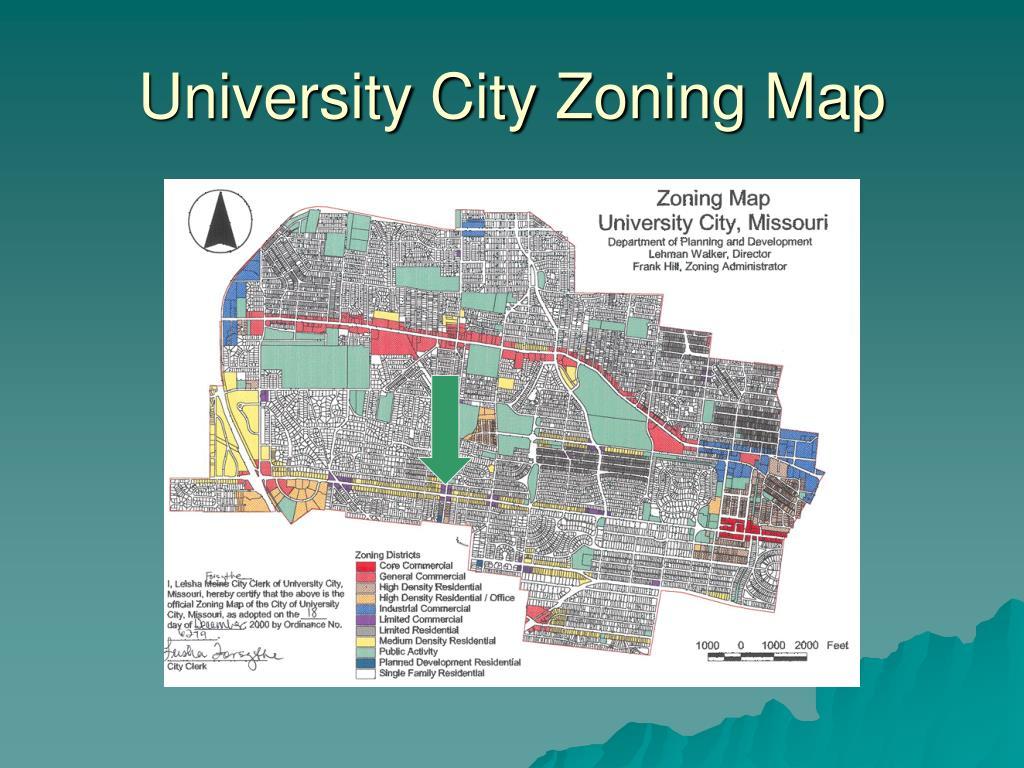 University City Zoning Map