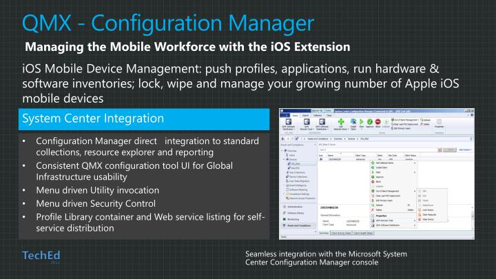QMX - Configuration Manager