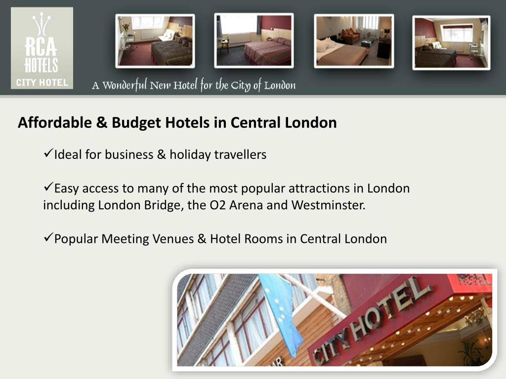 Affordable & Budget Hotels in Central London