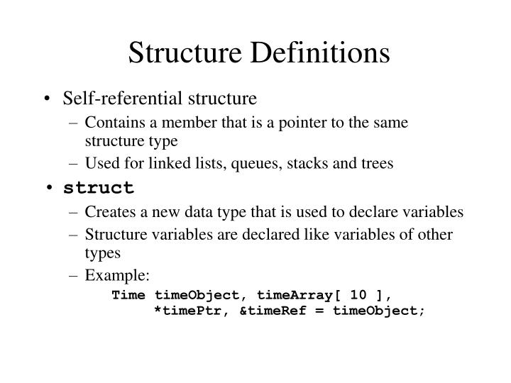 Structure Definitions