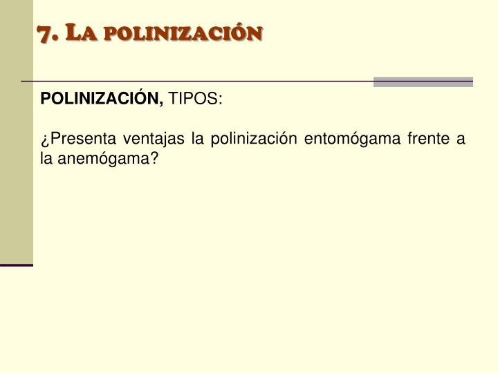 7. La polinización