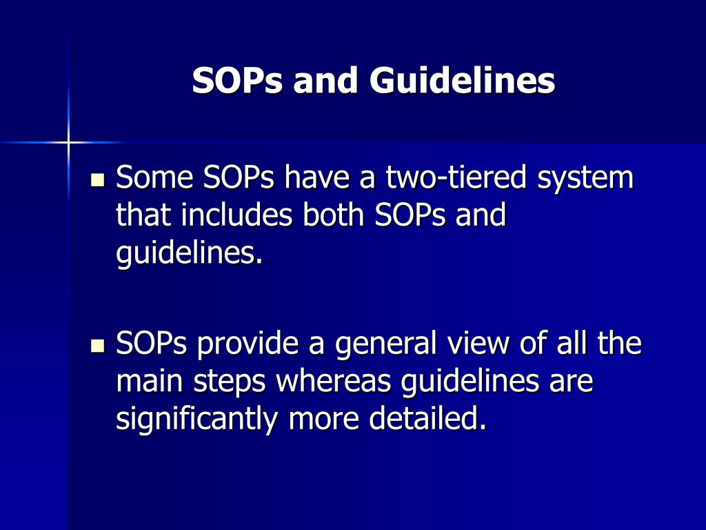 PPT A Blueprint For Clinical Research: Standard Operating Procedures  #000079