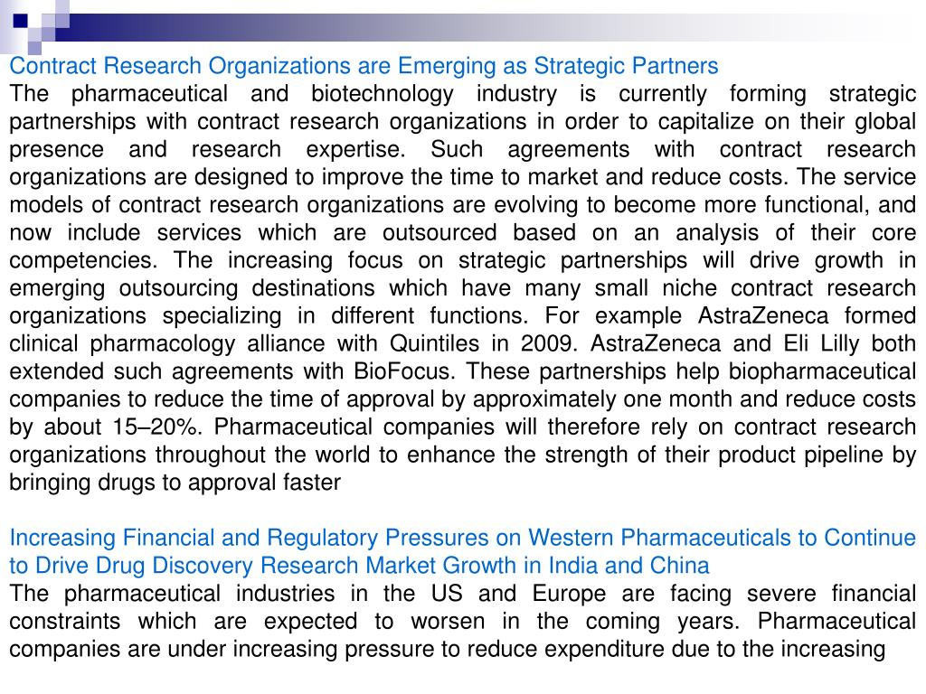 Contract Research Organizations are Emerging as Strategic Partners