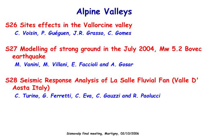 Alpine Valleys