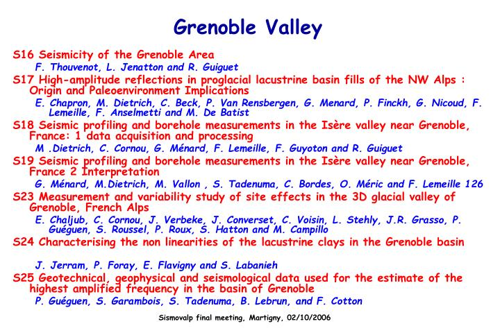 Grenoble Valley