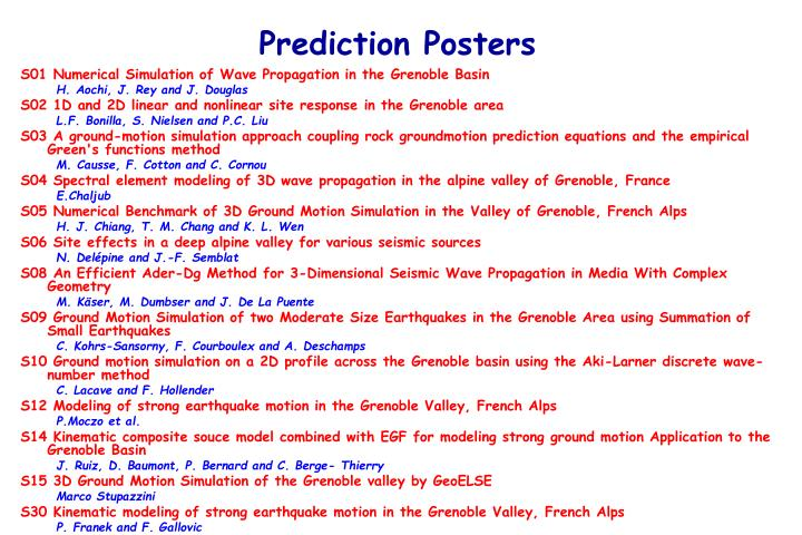 Prediction Posters