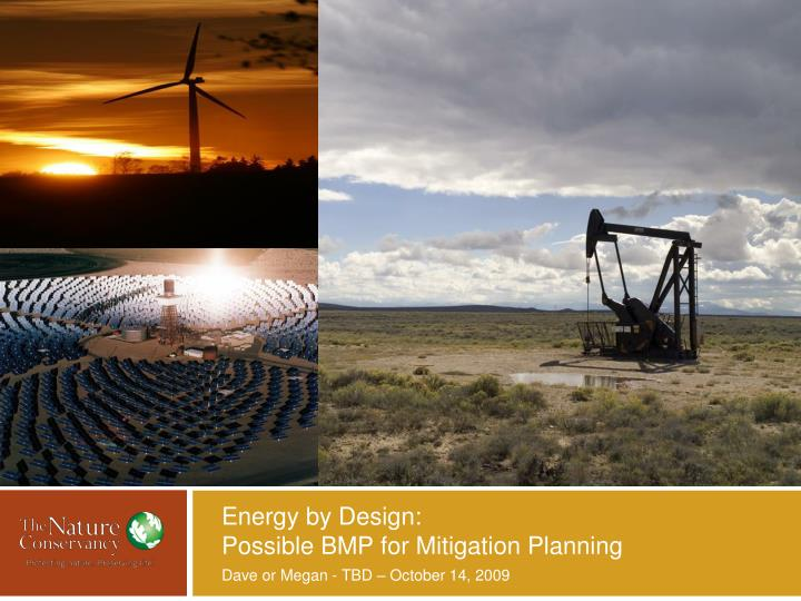 Energy by design possible bmp for mitigation planning
