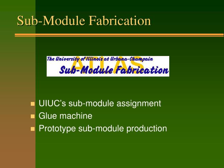 Sub-Module Fabrication
