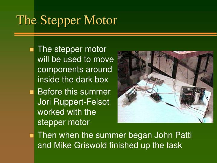 The Stepper Motor