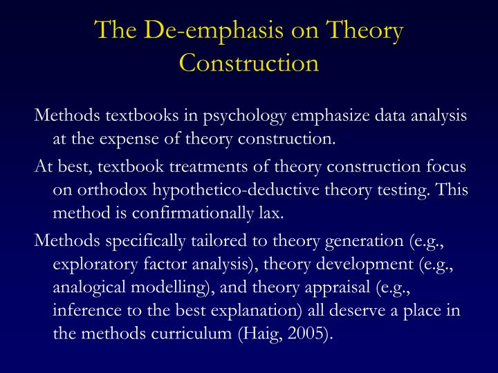 The De-emphasis on Theory Construction