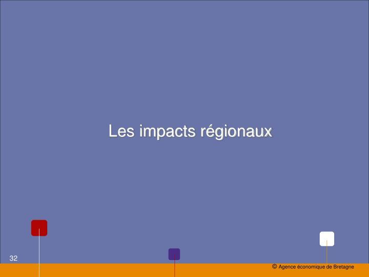 Les impacts régionaux