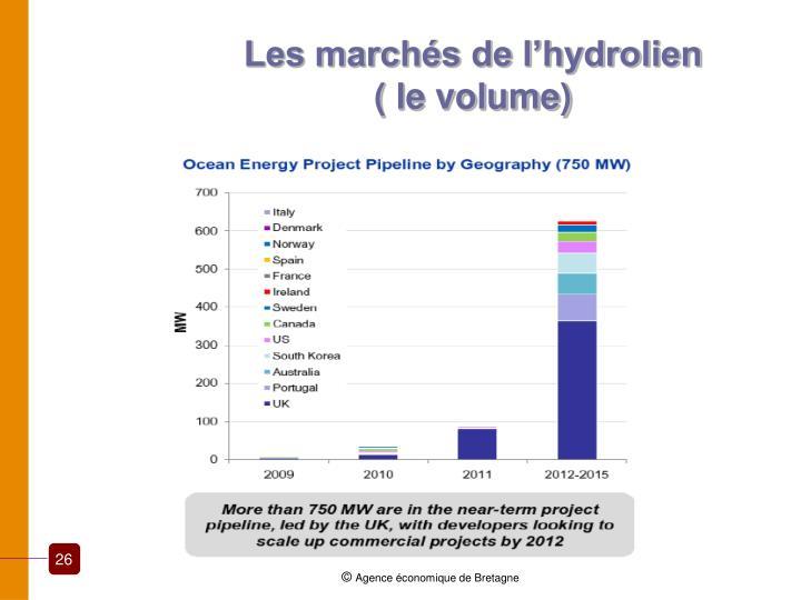Les marchés de l'hydrolien