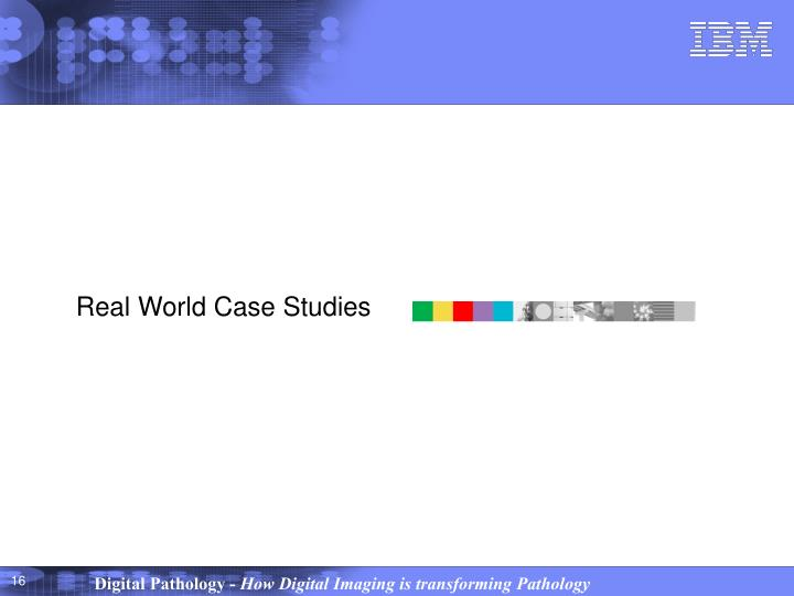 Real World Case Studies