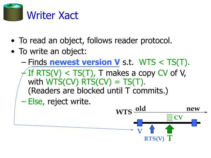 Writer Xact