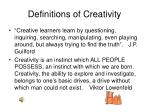 definitions of creativity1