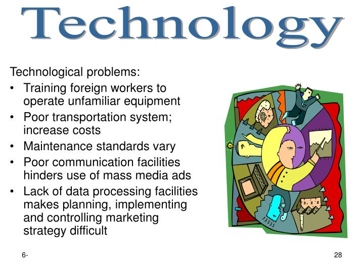 Technological problems: