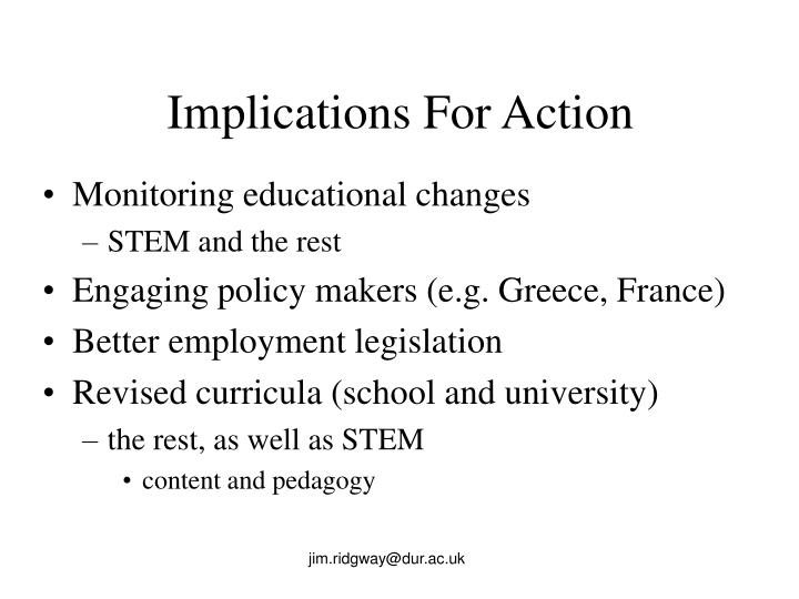 Implications For Action