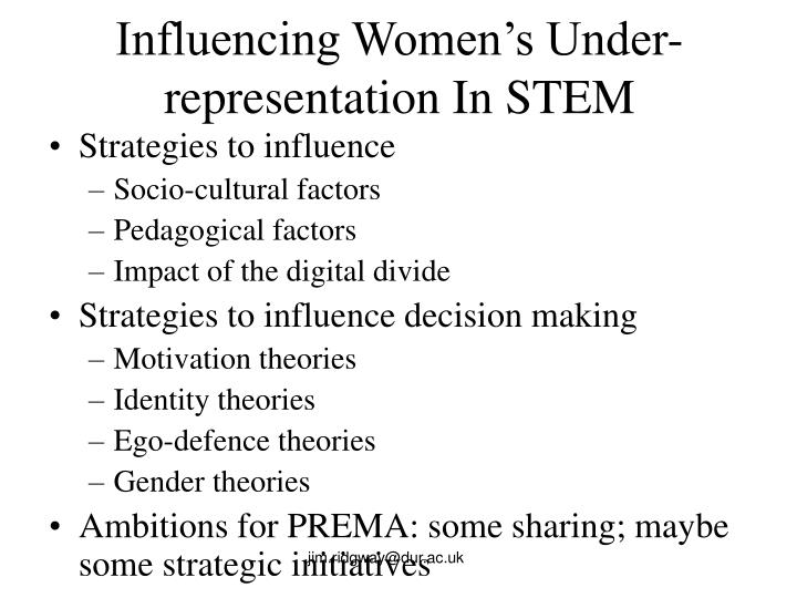 Influencing Women's Under-representation In STEM