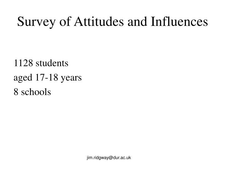 Survey of Attitudes and Influences