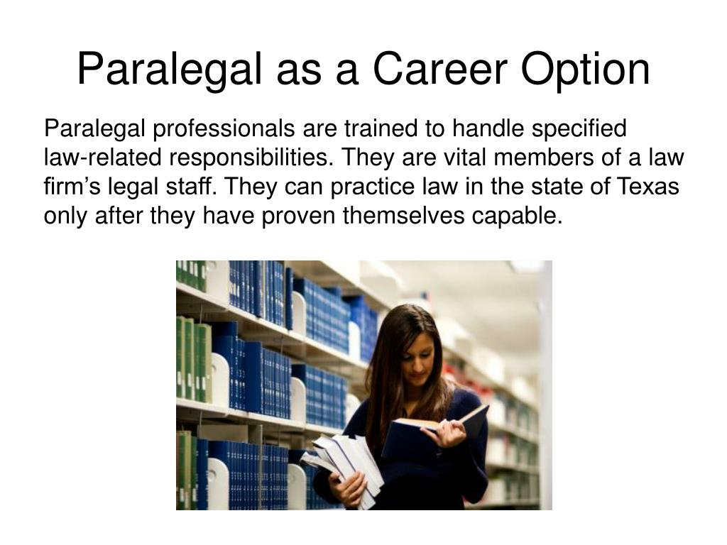 Paralegal as a Career Option