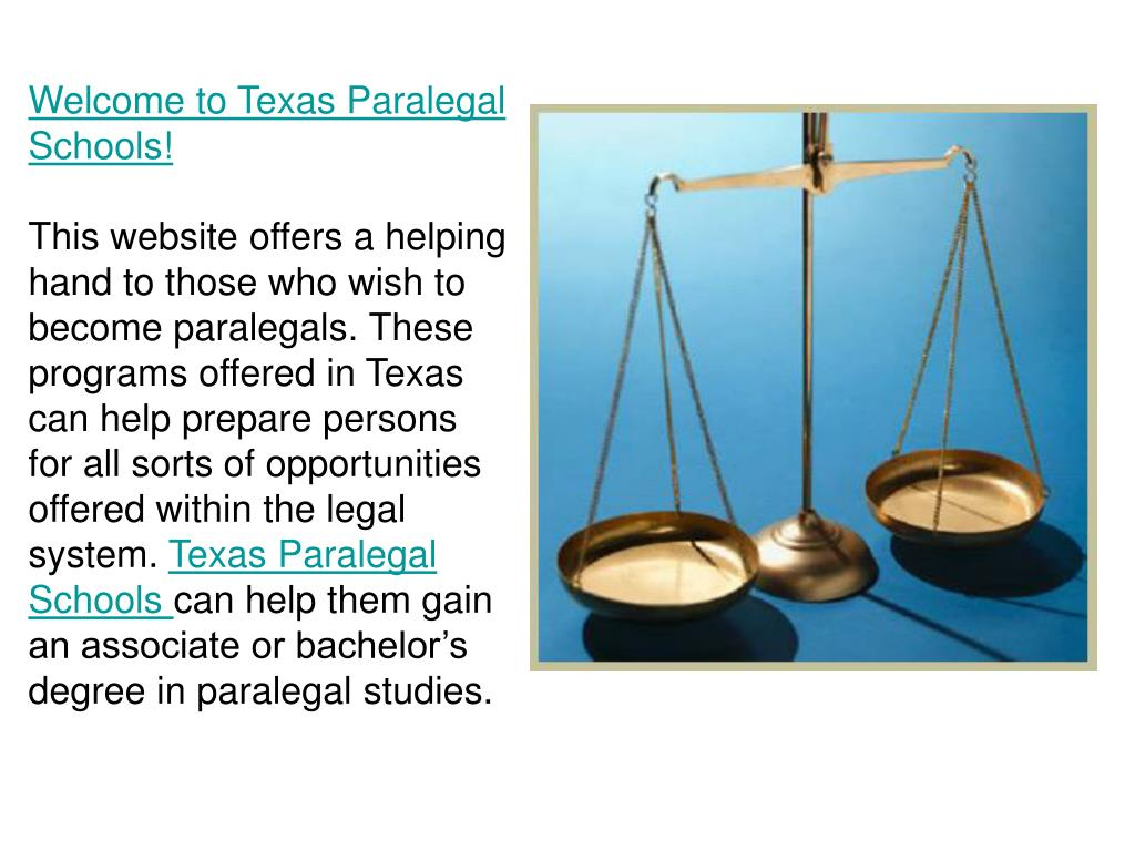 Welcome to Texas Paralegal Schools!