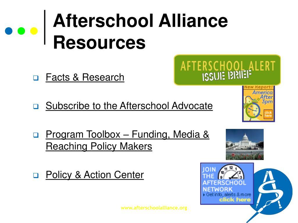 Afterschool Alliance Resources