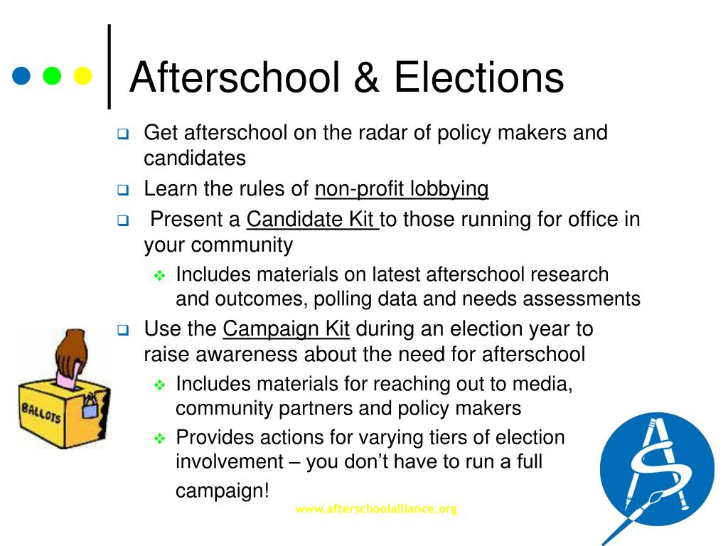 Afterschool & Elections