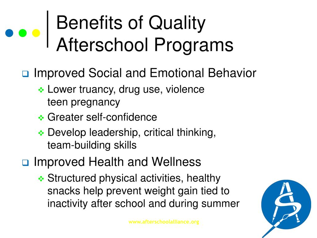 Benefits of Quality Afterschool Programs