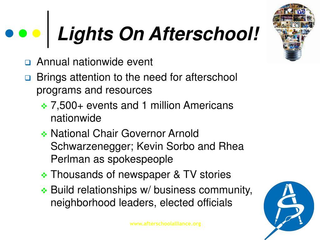 Lights On Afterschool!