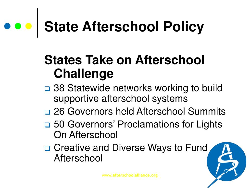 State Afterschool Policy