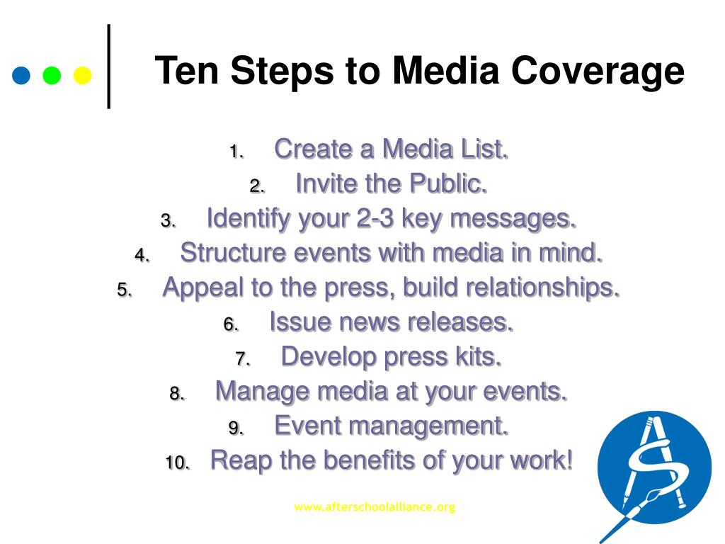 Ten Steps to Media Coverage