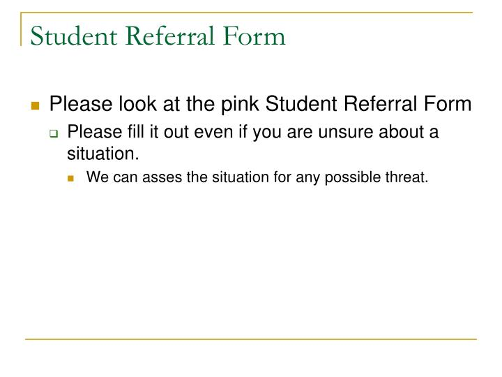 Student Referral Form