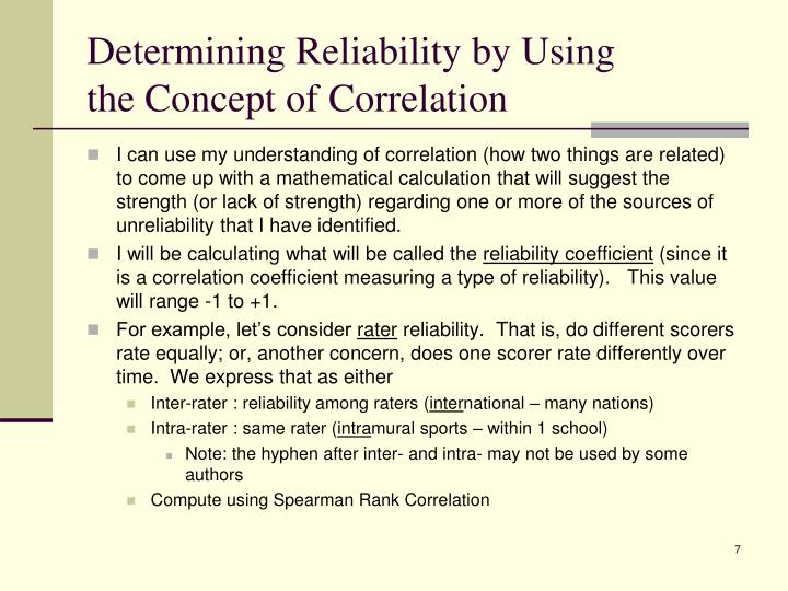 Determining Reliability by Using