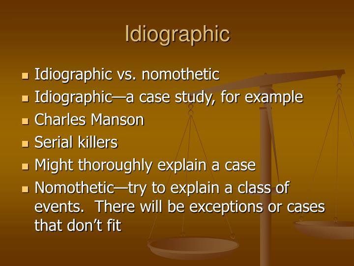 Idiographic