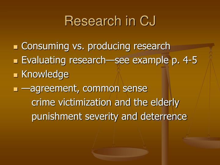 Research in CJ