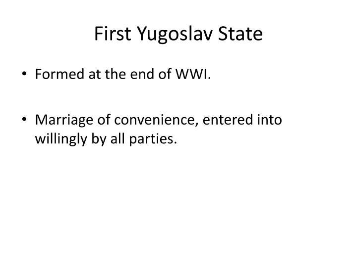 First Yugoslav State