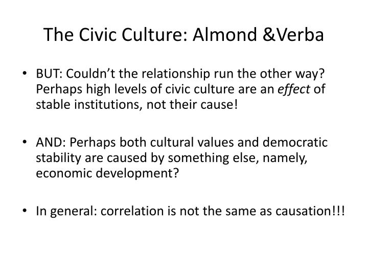 The Civic Culture: Almond &Verba