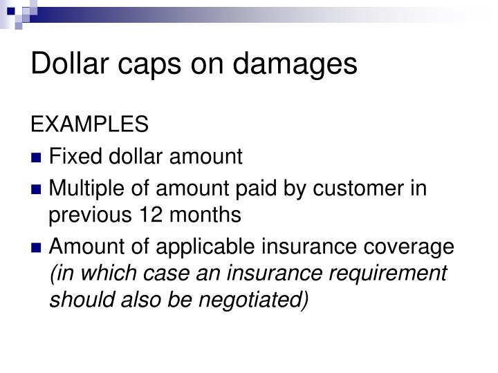 Dollar caps on damages