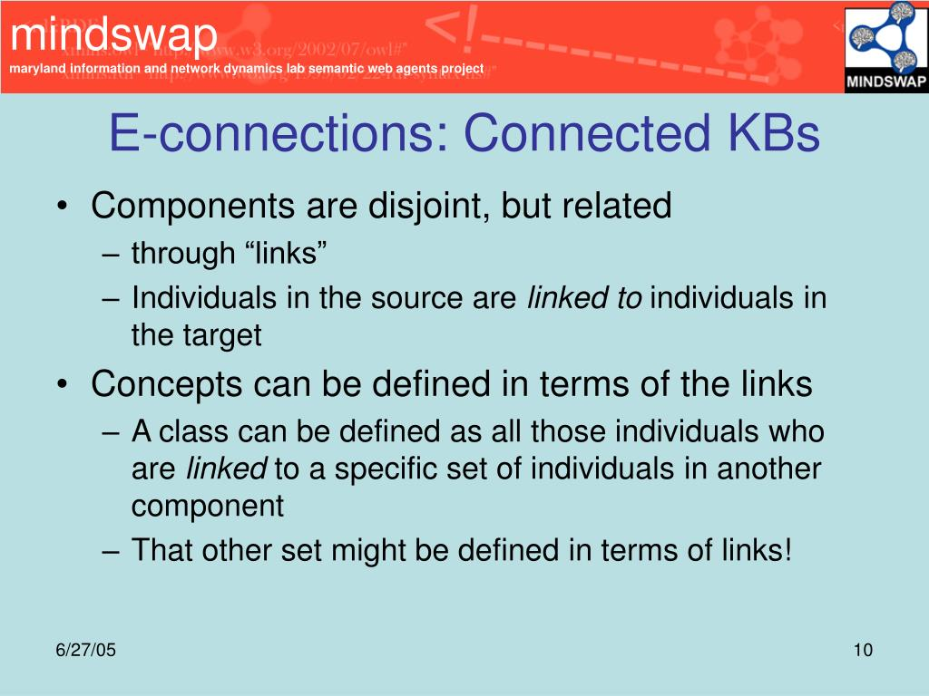 E-connections: Connected KBs