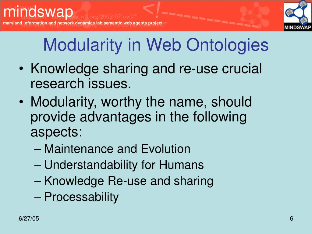 Modularity in Web Ontologies