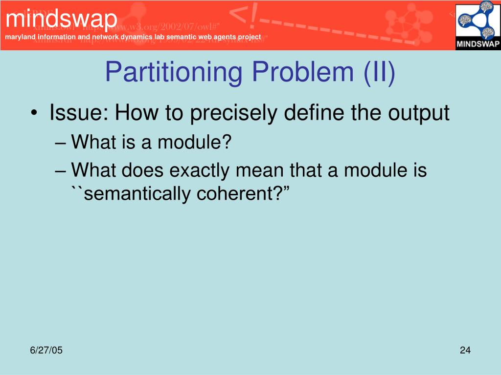 Partitioning Problem (II)