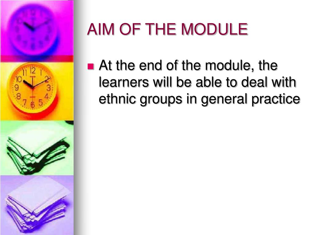 AIM OF THE MODULE
